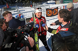Slovenian cross-country skier Petra Majdic with journalists at 10th OPA - Continental Cup 2008-2009, on January 17, 2009, in Rogla, Slovenia.  (Photo by Vid Ponikvar / Sportida)