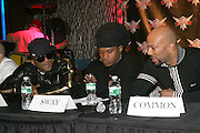 Q-Tip and Sway and Common at The Smirnoff Press Conference announcing Music Series held at Element on February 26, 2008