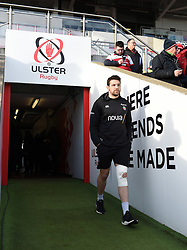 Charlie Ewels of Bath Rugby walks onto the field prior to the match - Mandatory byline: Patrick Khachfe/JMP - 07966 386802 - 18/01/2020 - RUGBY UNION - Kingspan Stadium - Belfast, Northern Ireland - Ulster Rugby v Bath Rugby - Heineken Champions Cup