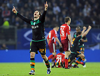 Fotball<br /> Tyskland<br /> Foto: Witters/Digitalsport<br /> NORWAY ONLY<br /> <br /> 07.05.2009<br /> <br /> Schlussjubel Torsten Frings Werder<br /> UEFA-Cup Halbfinale Hamburger SV - Werder Bremen 2:3