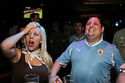 Uruguay v Holland at Zoo BAr and De Hems.<br /> <br /> Copyright: Jonathan GoldbergWorld Cup 2010 watched  on London TV<br /> Holland v Uruguay, Leicester Square