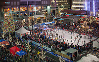 Ice Rink on Fountain Square during the Holiday Season