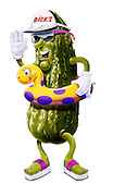 """BBQ time with Bick's Dill Pickle's friendly character """"Darrell Dill Pickle"""""""
