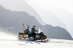 Meta Hrovat on snowmobile during spring practice session of Meta Hrovat and Ilka Stuhec on May 18, 2020 in Kanin, Bovec, Slovenia. Photo by Matic Klansek Velej / Sportida