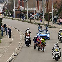 04-04-2021: Wielrennen: Ronde van Vlaanderen (Mannen): Oudenaarde <br />Kopgroep vna de dag
