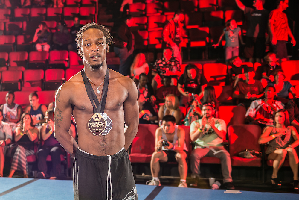 Winner William Coneys poses for a portrait during the One and One event Finales at Red Bull Throwdown in Atlanta, Georgia on August 25th, 2013