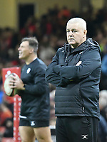 Rugby Union - 2019 / 2020 season - Wales vs. Barbarians<br /> <br /> Barbarians coach Warren Gatland, at The Principality (Millennium) Stadium.<br /> <br /> COLORSPORT/WINSTON BYNORTH