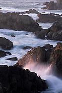 Coastal offshore rocks and surf, Stillwater Cove Regional Park, Sonoma Coast, California