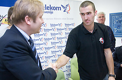 Peter Kukovica and Damjan Zlatnar when Slovenian athletes and their coaches sign contracts with Athletic federation of Slovenia for year 2009,  in AZS, Ljubljana, Slovenia, on March 2, 2009. (Photo by Vid Ponikvar / Sportida)