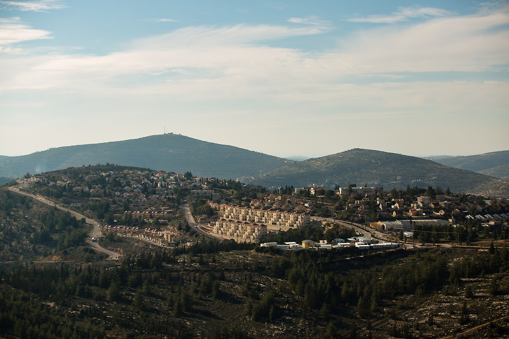 A general view of the West Bank Jewish settlement of Eli, on January 28, 2016.