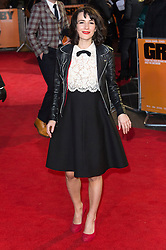 © Licensed to London News Pictures. 22/02/2016. SARAH SOLEMANI attends the GRIMSBY Film premiere. The film centres around a black-ops spy whose brother is a football hooligan.  London, UK. Photo credit: Ray Tang/LNP
