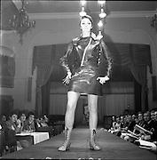 13/11/1967<br /> 11/13/1967<br /> 13 November 1967<br /> Irish Leather Federation, Leather Fashions at the Gresham Hotel, Dublin.<br /> Suit by John Homac Ltd of London.