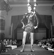 13/11/1967<br /> 11/13/1967<br /> 13 November 1967<br /> Irish Leather Federation, Leather Fashions at the Gresham Hotel, Dublin.<br /> Suit by John Homac Ltd of London.