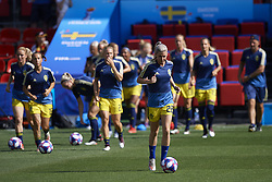 June 29, 2019 - Rennes, France - Olivia Schough (Djurgardens If Dff) of Sweden during the warm-up before the 2019 FIFA Women's World Cup France Quarter Final match between Germany and Sweden at Roazhon Park on June 29, 2019 in Rennes, France. (Credit Image: © Jose Breton/NurPhoto via ZUMA Press)