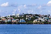 Waterfront pastel houses, Bermuda