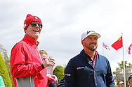 Chris Evans and Northern Ireland's Graeme McDowell at the BMW PGA Championship Celebrity Pro-Am Challenge at the Wentworth Club, Virginia Water, United Kingdom on 20 May 2015