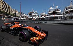 May 27, 2017 - Monte-Carlo, Monaco - Jenson Button of Great Britain and McLaren Honda F1 Team driver goes during the qualification on Formula 1 Grand Prix de Monaco on May 27, 2017 in Monte Carlo, Monaco. (Credit Image: © Robert Szaniszlo/NurPhoto via ZUMA Press)