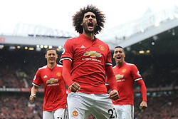 30th September 2017 - Premier League - Manchester United v Crystal Palace - Marouane Fellaini of Man Utd celebrates after scoring their 3rd goal  - Photo: Simon Stacpoole / Offside.