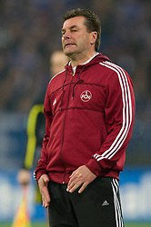 19.11.2011, Veltins Arena, Gelsenkirchen, GER, 1. FBL, FC Schalke 04 vs 1. FC Nuernberg, im Bild Dieter Hecking (Trainer Nuernberg) // during FC Schalke 04 vs. 1. FC Nuernberg at Veltins Arena, Gelsenkirchen, GER, 2011-11-19. EXPA Pictures © 2011, PhotoCredit: EXPA/ nph/ Kurth..***** ATTENTION - OUT OF GER, CRO *****