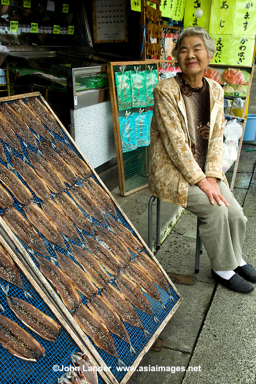 Japanese Fishmonger Ito, Izu - Fresh fish is an important form of food for the Japanese, who consume it nearly every day. Izu is a big source of seafood for Shizuoka.