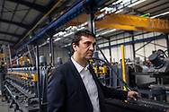 Mr Levent Somtas, chairman of Somcelik, in the middle of the semi-automated production line in the company headquarters, located in Kayseri's industrial area, central Turkey.