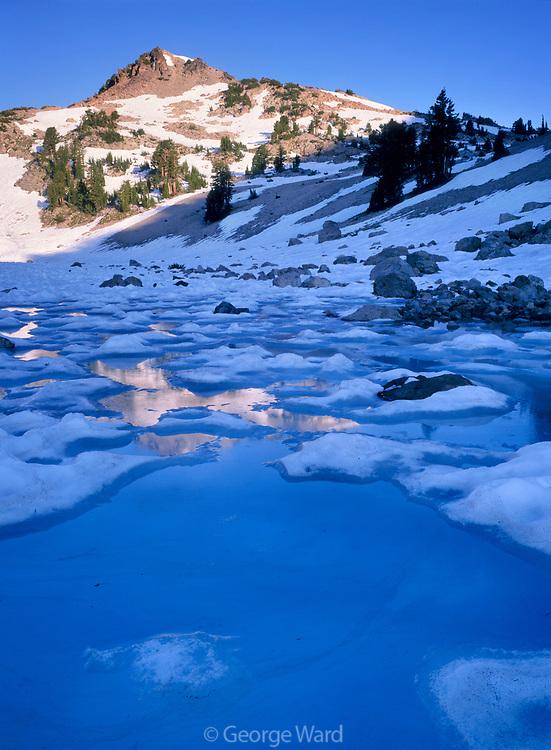 Melting Ice below Eagle Peak, Lassen Volcanic National Park, California