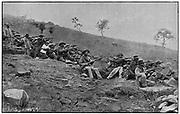 Boers besieging Ladysmith. Siege lasted from l November 1899-28 February 1900. 2nd Boer War 1899-1900.