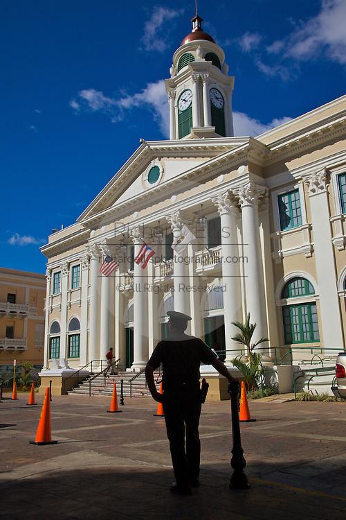 Historic Corinthian Alcaldia or town hall in Mayaguez Puerto Rico
