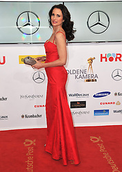 Andie McDowell attends the Goldene Kamera 2014 at Tempelhof Airport Hangar 7, Berlin, Germany, Saturday, 1st February 2014. Picture by  Schneider-Press / i-Images<br /> UK & USA ONLY