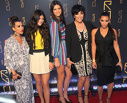 (L-R) Kourtney Kardashian, Kylie Jenner, Kendall Jenner, Kris Jenner and Kim Kardashian arriving for the Grand Opening of Scott Disick's RYU restaurant in The Meatpacking District in New York City, NY, USA on April 23, 2012. Scott Disick has teamed up with nightlight impresario Chris Reda to introduce the Meatpacking District's hottest new restaurant, RYU that will offer Japanese-inspired cuisine and world class cocktails in a chic dining space. Photo by Charles Guerin/ABACAPRESS.COM  | 317673_029 New York City Etats-Unis United States