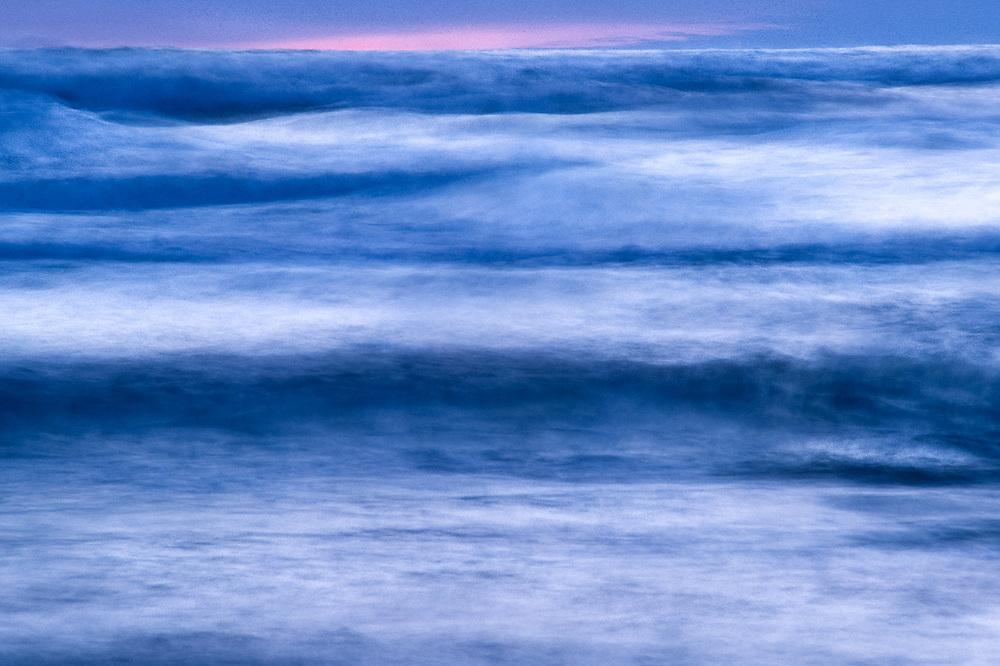 Pacific Ocean surf, twilight, Olympic National Park, Washington, USA