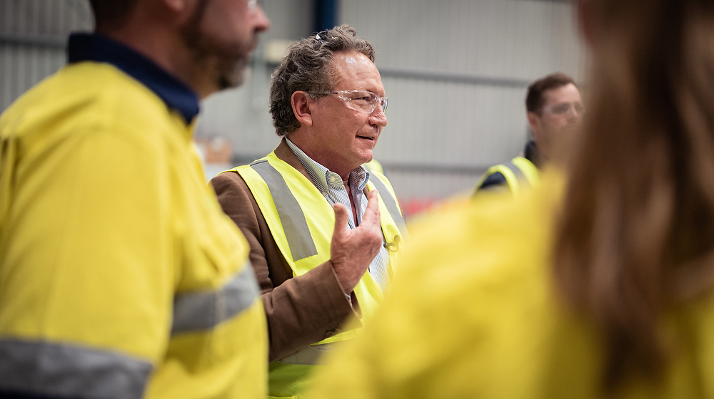 PERTH:Sept 13, 2021: Andrew Forrest, Chairman, at the FMG Hazelmere facility near Perth in Western Australia.<br /> Pic:Tony McDonough