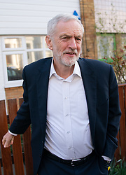 © Licensed to London News Pictures. 27/02/2019. London, UK. Leader of the Labour Party Jeremy Corbyn leaves home this morning. On Monday 25 February, Mr Corbyn announced that Labour would support a second Brexit referendum. Photo credit : Tom Nicholson/LNP