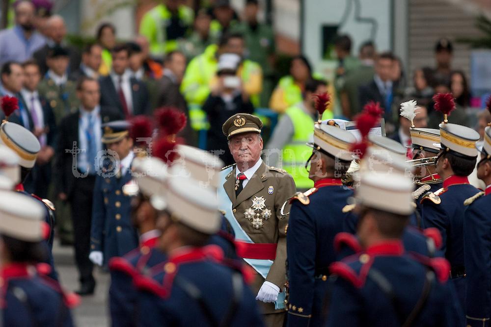 King of Spain Juan Carlos I, reviews the troops