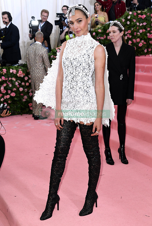 """Gal Gadot at the 2019 Costume Institute Benefit Gala celebrating the opening of """"Camp: Notes on Fashion"""".<br />(The Metropolitan Museum of Art, NYC)"""