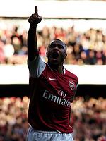 Photo: Olly Greenwood.<br />Arsenal v Reading. The Barclays Premiership. 03/03/2007. Arsenal's Julio Baptista celebrates scoring