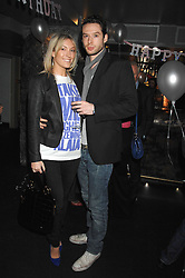 OLIVIA BUCKINGHAM and OLLIE BREACH at a party to celebrate the 1st birthday of nightclub Kitts, 7-12 Sloane Square, London on 5th March 2008.<br />