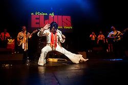 Rob Kingsley Elvis Presley Tribute Artist A Vision of Elvis On Tour Bristol Hippodrome<br /> <br /> 07 April 2014<br /> Image © Paul David Drabble <br /> www.pauldaviddrabble.co.uk