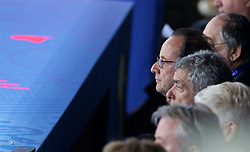 PARIS, FRANCE - Sunday, July 3, 2016: France François Hollande watches the national team take on Iceland during the UEFA Euro 2016 Championship Semi-Final match at the Stade de France. (Pic by Paul Greenwood/Propaganda)