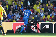 CELE : Callum Wilson of Bournemouth celebrates after scoring his sides 1st goal. Premier league match, Watford v AFC Bournemouth at Vicarage Road in Watford, London on Saturday 1st October 2016.<br /> pic by John Patrick Fletcher, Andrew Orchard sports photography.