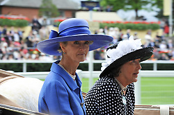 Left to right, LADY BRABOURNE and LADY VESTEY at day 2 of the 2011 Royal Ascot Racing festival at Ascot Racecourse, Ascot, Berkshire on 15th June 2011.