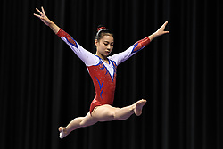 March 2, 2019 - Greensboro, North Carolina, US - YUNSEO LEE from South Korea practices on the balance beam before the competition at the Greensboro Coliseum in Greensboro, North Carolina. (Credit Image: © Amy Sanderson/ZUMA Wire)