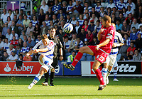 Photo: © Andrew Fosker / Richard Lane Photography -  QPR's Akos Buzsaky curls in his second goal and QPR's 3rd of the first half - the defender is Stephen Foster (R) Queens Park Rangers v Barnsley - Coca-Cola Championship - 26/09/09 Loftus Road - London -  UK - All Rights Reserved