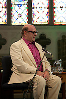 Paul McGuinness, former U2 manager, speaking at the Dalkey Book Festival, Dalkey Village, Dublin, Ireland, Saturday 13th June 2015