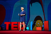 Host Helen Walters speaks at TED2019: Bigger Than Us. April 15 - 19, 2019, Vancouver, BC, Canada. Photo: Bret Hartman / TED