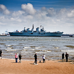 Sailing into the Mersey crowds lined the shores from New Brighton all the way down to Birkenhead