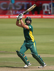 Rilee Rossouw of South Africa hits over the top during the 5th ODI match between South Africa and Australia held at Newlands Stadium in Cape Town, South Africa on the 12th October  2016<br /> <br /> Photo by: Shaun Roy/ RealTime Images