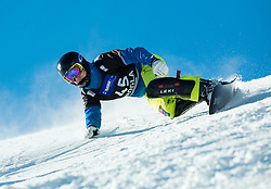 Jure Retuznik of Slovenia competes in Qualification Run during Parallel Giant Slalom at FIS Snowboard World Cup Rogla 2015, on January 31, 2015 in Course Jasa, Rogla, Slovenia. Photo by Vid Ponikvar / Sportida