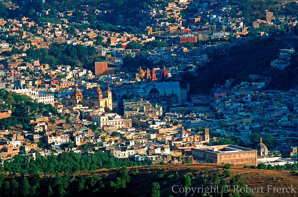 MEXICO, GUANAJUATO overview of city with the Alhondiga
