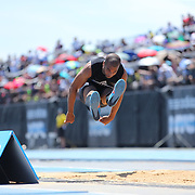 Yordanis Duranona, Commonwealth of Dominica, in action in the Men's Triple Jump Competition during the Diamond League Adidas Grand Prix at Icahn Stadium, Randall's Island, Manhattan, New York, USA. 13th June 2015. Photo Tim Clayton